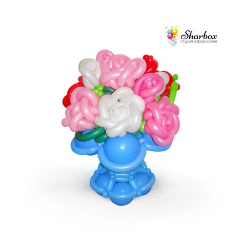 Композиция «Большая корзина с розами»