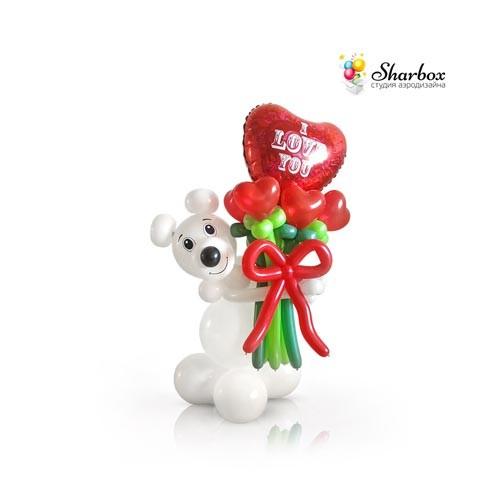 Фигура шаров Мишка с сердцем