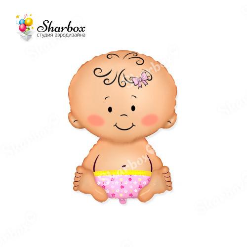Шар-фигура Малышка с гелием