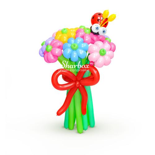 Букет из шаров с коровкой №1