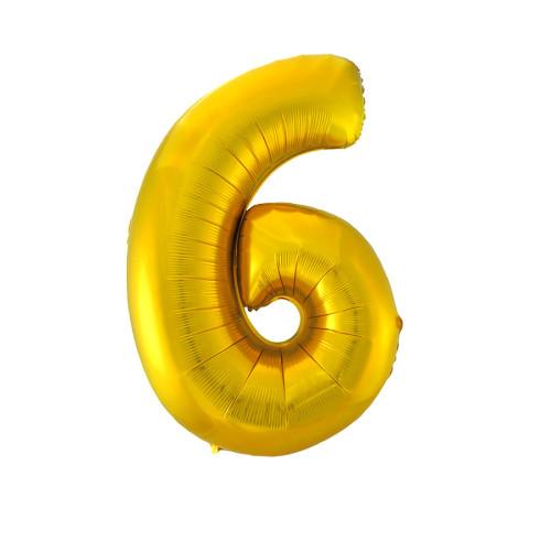 Шар цифра 6, золото