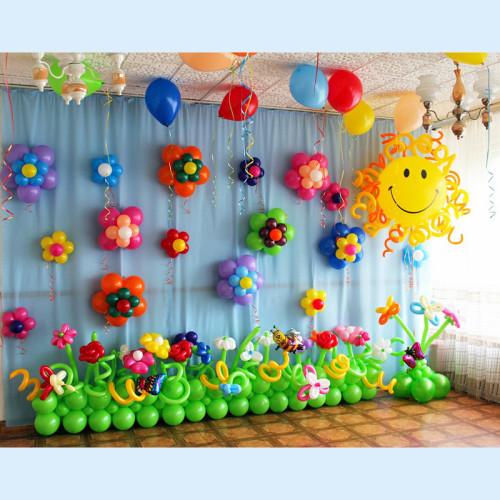 """Оформление шарами в детском саду """"Веселая поляна"""""""
