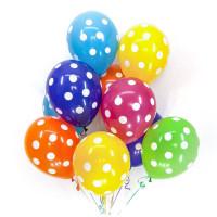 Воздушные шары Горошек Ассорти фото 01