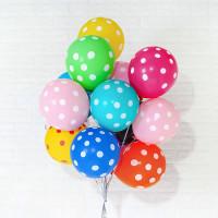 Воздушные шары Горошек Ассорти фото 02