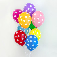 Воздушные шары Горошек Ассорти фото 03