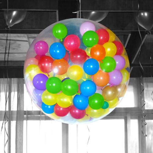 Большой шар-сюрприз с шариками и конфетти