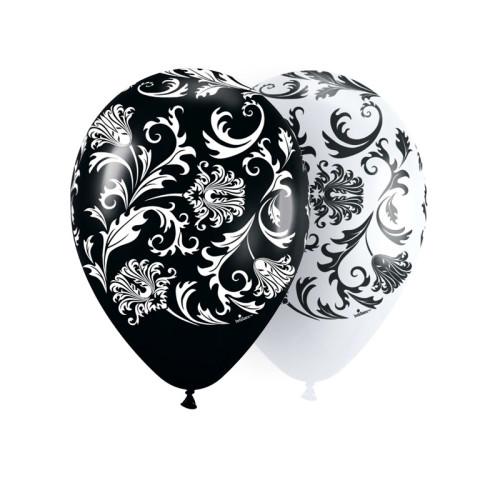 Воздушные шары Дамаск. Белый, черный, пастель
