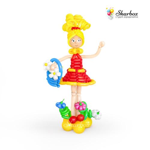 Девочка из шаров с корзинкой