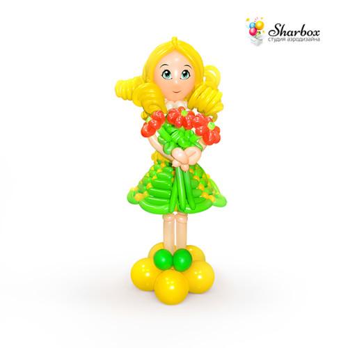Девочка из шаров в зеленом