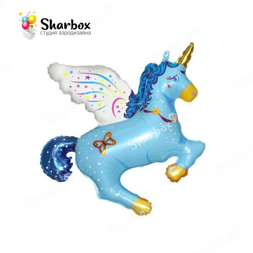 Шар Волшебный Единорог Голубой