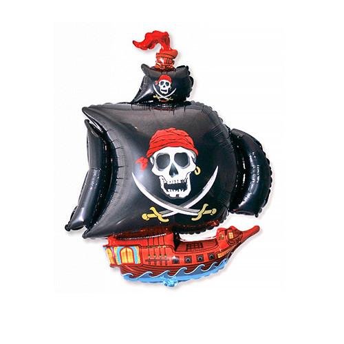 Шар фигура, Пиратский корабль, черный