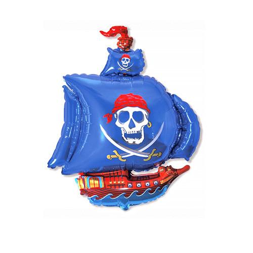 Шар фигура, Пиратский корабль, синий