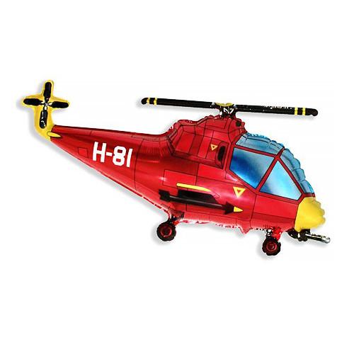 Шар фигура, Вертолет, красный