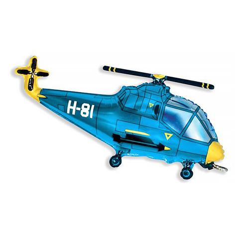 Шар фигура, Вертолет, синий