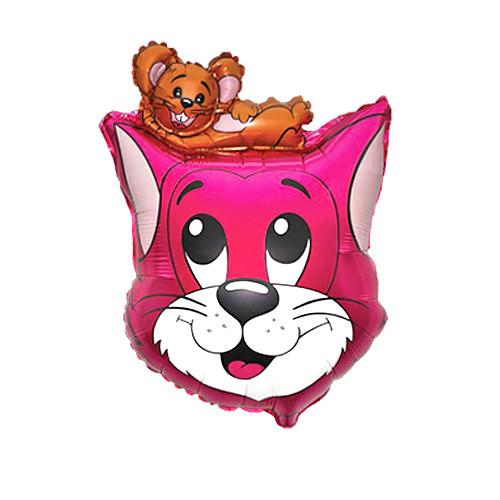 Шар фигура, Кот, розовый