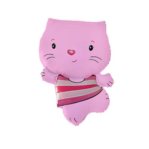 Шар фигура, Котенок, розовый