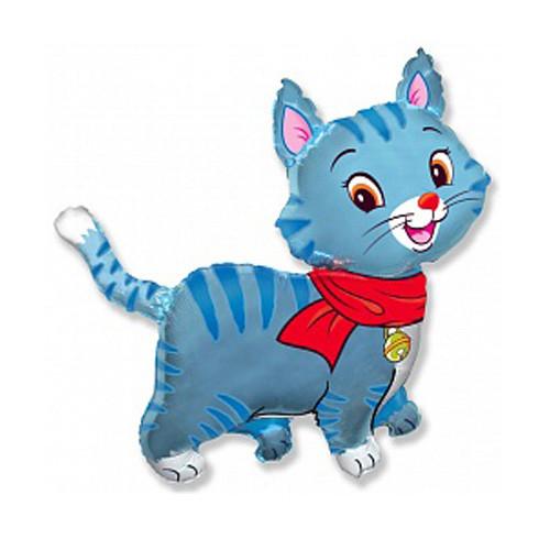 Шар фигура, Любимый котенок, голубой