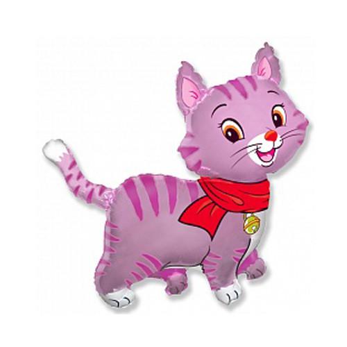 Шар фигура, Любимый котенок, розовый