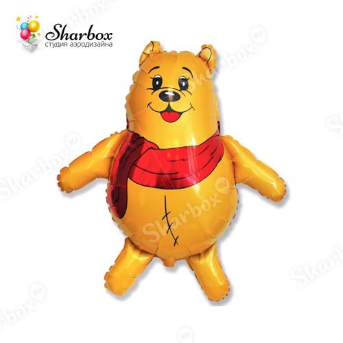 Воздушный шар Медвежонок в шарфике купить