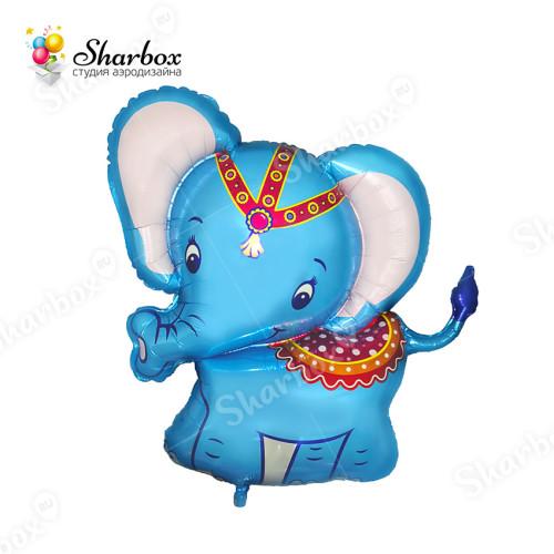 Воздушный шар Слонёнок голубой с гелием