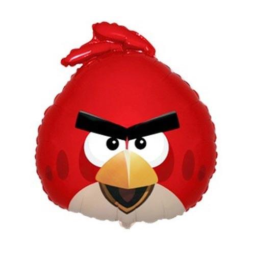 Шар фигура, Angry Birds, красный