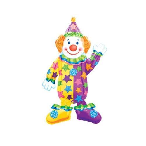 Шар фигура ходячая Клоун