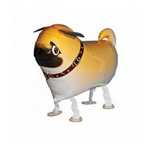 Шар фигура ходячая Мопс