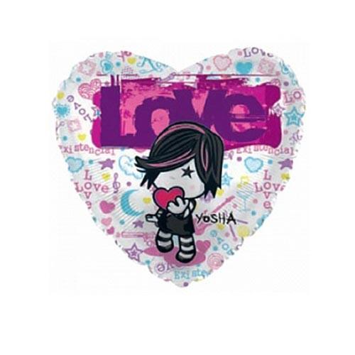 Шар Сердце Девочка с сердцем