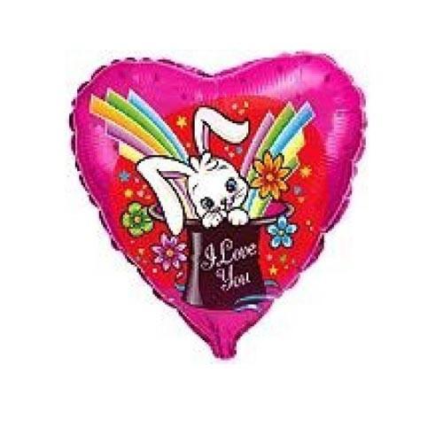 Шар Сердце Кролик в шляпе Я тебя люблю