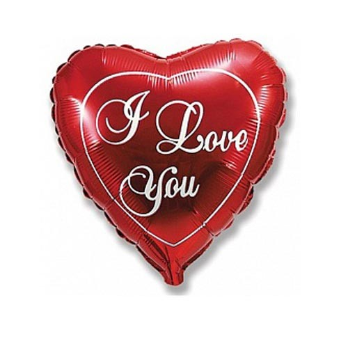 Шар Сердце Любовь, красное