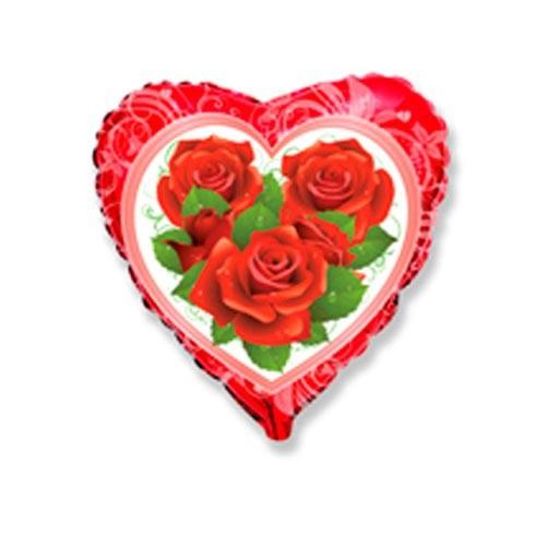 Шар Сердце Розы