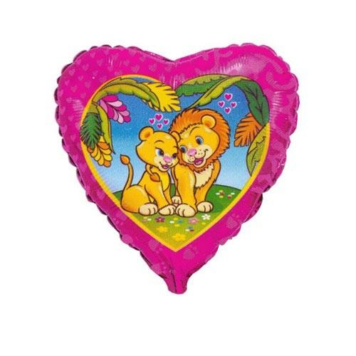 Шар Сердце Влюбленные львы