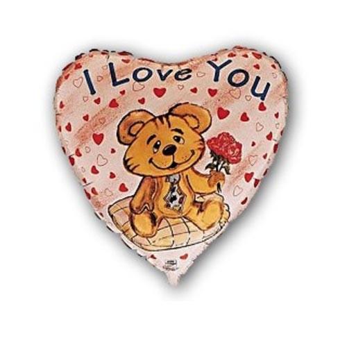 Шар Сердце Влюбленный медвежонок