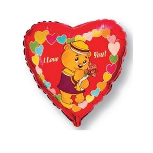 Шар Сердце Влюбленный мишка-морячок