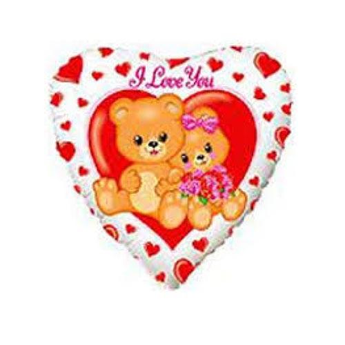 Шар Сердце Влюблённые медвежата