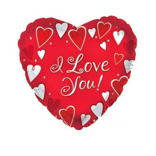 Шар Сердце Я люблю тебя (классик), красное