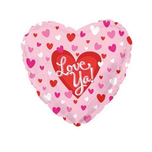 Шар Сердце Я люблю тебя (маленькие сердечки), розовое