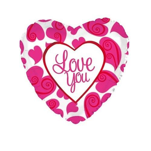 Шар Сердце Я люблю тебя (неоновые сердца)