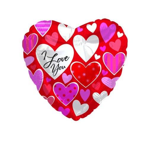 Шар Сердце Я люблю тебя (разные сердечки)
