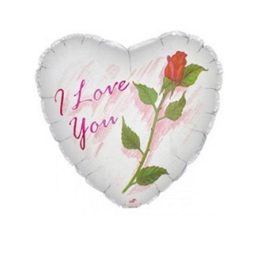 Шар Сердце Я люблю тебя (роза)