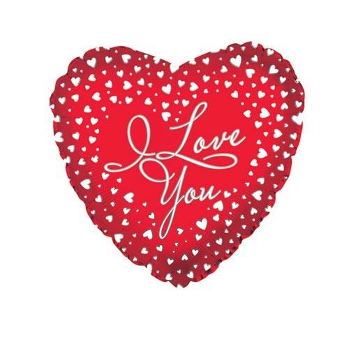 Шар Сердце Я люблю тебя (водопад сердец)