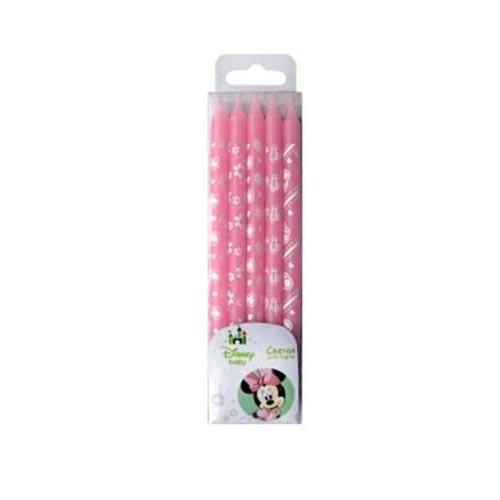 Свечи, Дисней Минни, розовое ассорти, 10 шт.