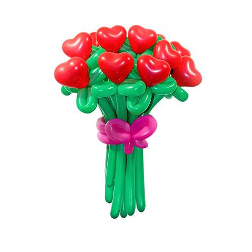 Букет из шаров Музыка сердец. 11 цветов