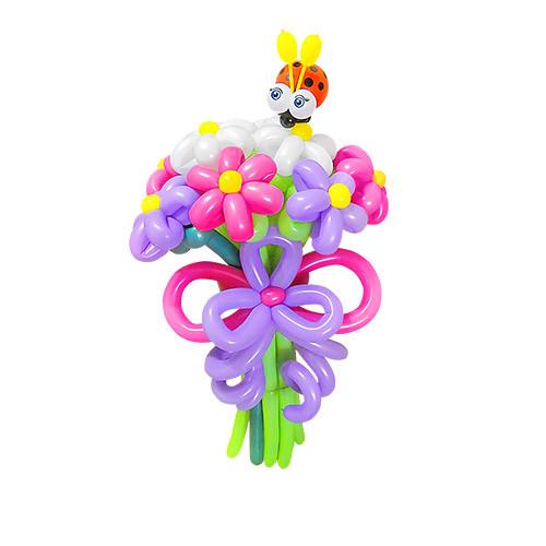 Букет из шаров с коровкой №2 из 9 цветов