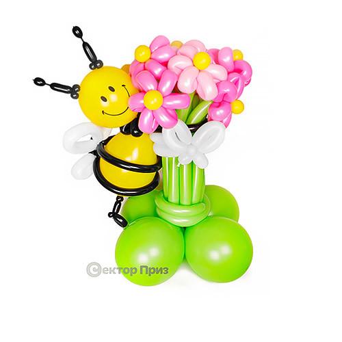 Букет из шаров с пчелкой №1