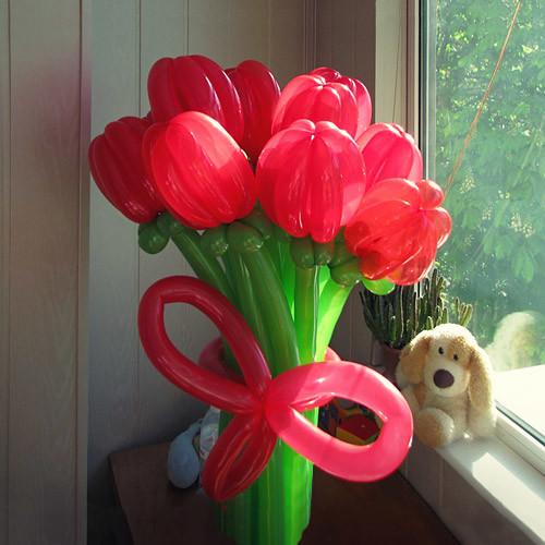 Букет из шаров Тюльпаны. 9 цветов