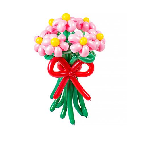 Цветы из шаров Букет Маргариток. 7 цветков