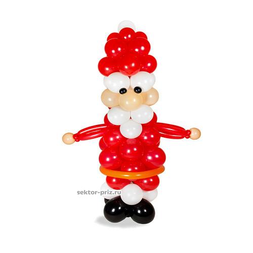 Фигура из шаров «Дед Мороз» №1