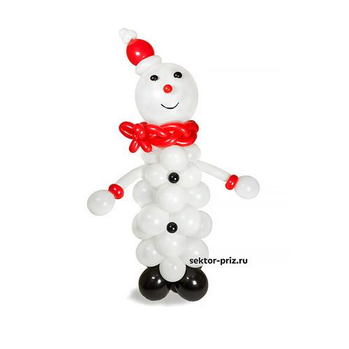 Фигура из шаров «Снеговик» №1
