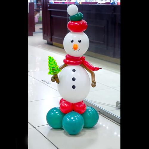 Фигура из шаров «Снеговик» №2